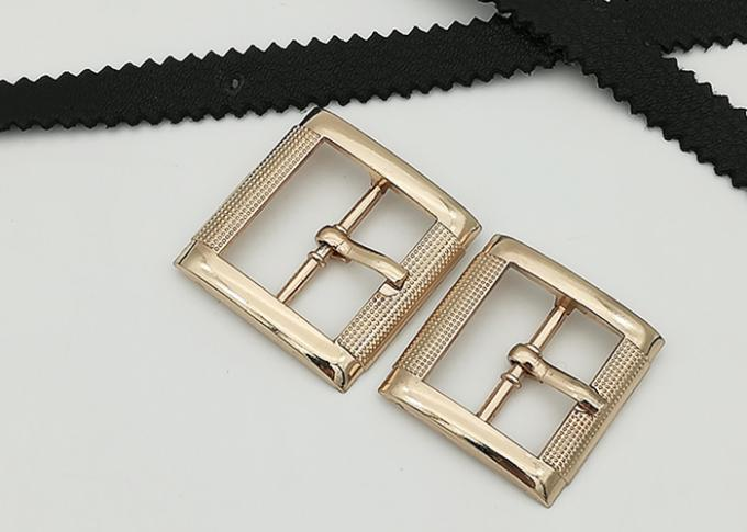 Rectangle Metal Shoe Buckles Single Prong Pin Structure Exquisite / Elegant
