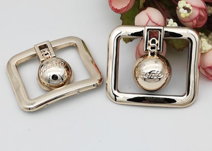 Rectangle Fashion Resistant Ladies Shoe Buckles Replacement OEM Accepeted