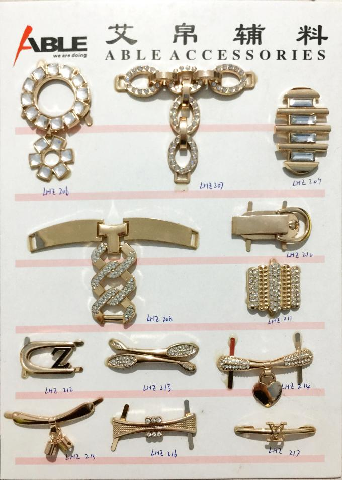 Fashionable Zinc Alloy Material Shoe Buckle Replacement For Decoration
