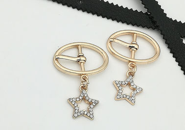 China LHZ1101 Metal Shoe Buckles Gold Small 4.8g With A Little Star Abrasion Resistance supplier