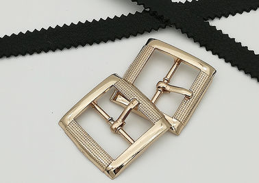 China Rectangle Metal Shoe Buckles Single Prong Pin Structure Exquisite / Elegant supplier