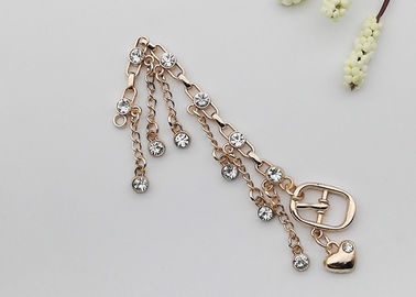 China Rhinestones Boot Chains Bracelets , High Heel Shoe Jewelry Chains Delicate supplier