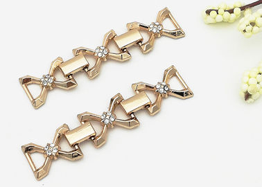 China Zinc Alloy Shoe Accessories Chains With Crystal Ornaments Suitable For Girl Shoes supplier