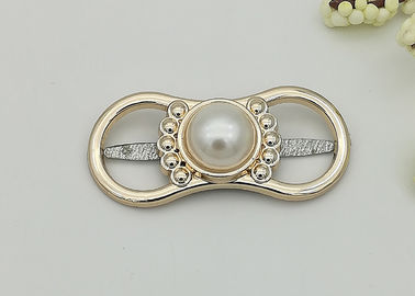 China Pearl Clip On Shoe Ornaments Dance Shoe Buckles Environmental Plated Hardwearing supplier