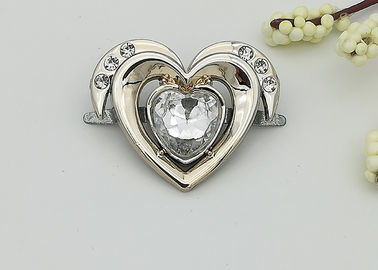 China Heart Shaped Small Shoe Buckles , Plastic High Heel Shoes Buckles Accessory supplier