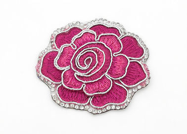 China Clothing Appliques Flower Embroidery Patches Peony Pattern Exquisite Elegant supplier