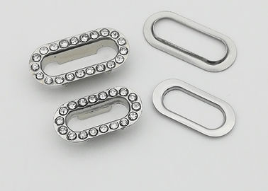 China Oval Shaped Metal Shoelace Eyelets For Canvas Clothes Leather Self Backing Purse supplier
