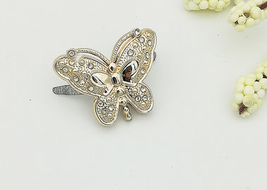 China Butterfly Plastic Shoe Buckles Exquisite Elegant Environmental Plated distributor