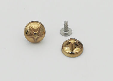 China Clothes Shoe Decorative Rivet Heads , Decorative Nail Heads Corrosion Resistant factory