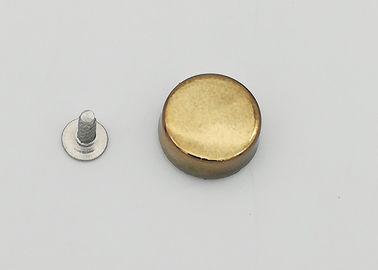 China Round Golden Decorative Rivets For Metal , Elegant Style Pop Rivet Kit factory
